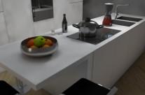 Interni: cucina monoblocco