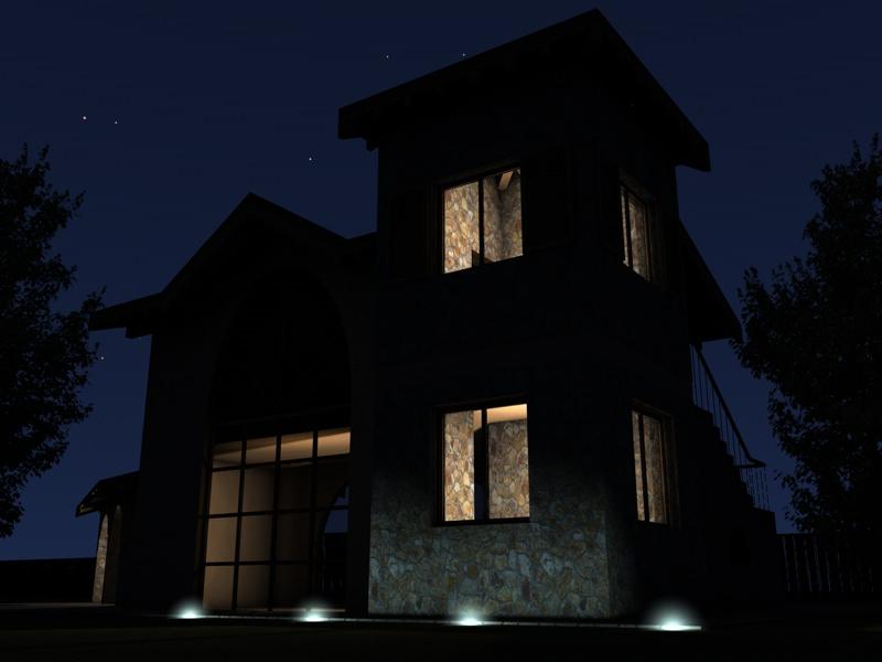 illuminazione notturna di un esterno con gi michele