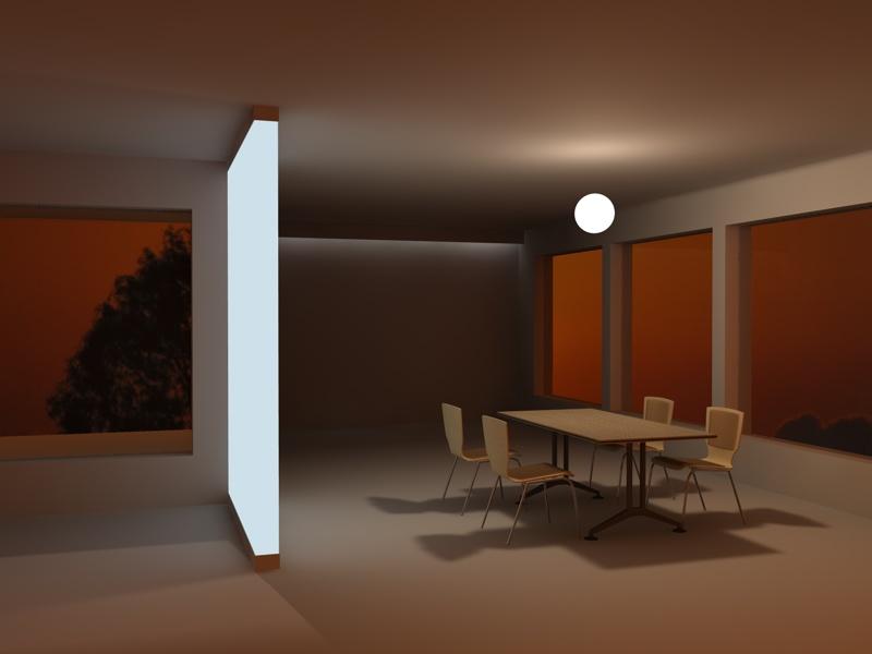 Illuminazione notturna interni michele scarpellini architettura design e cinema 4d - Illuminazione design interni ...