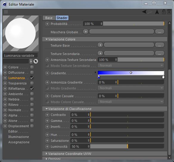 tutorial shader variazione cinema 4d