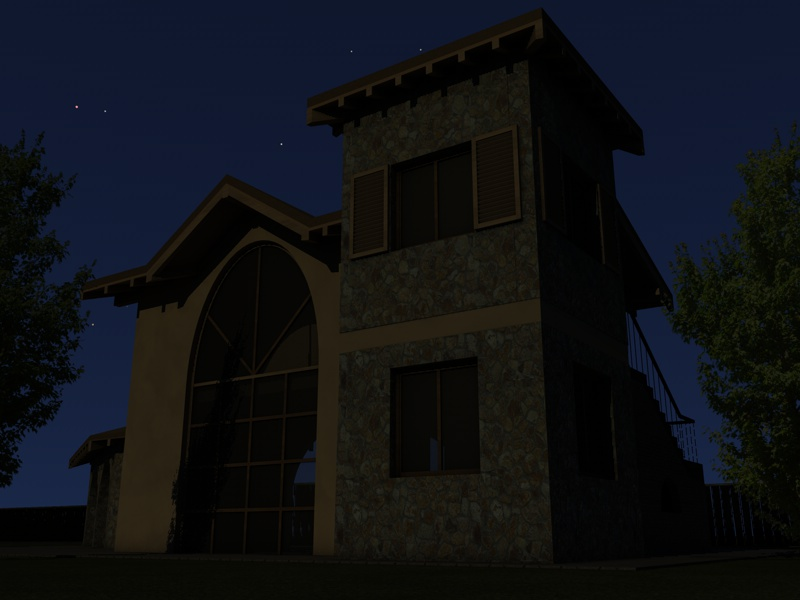 Illuminazione notturna di un esterno con gi michele scarpellini
