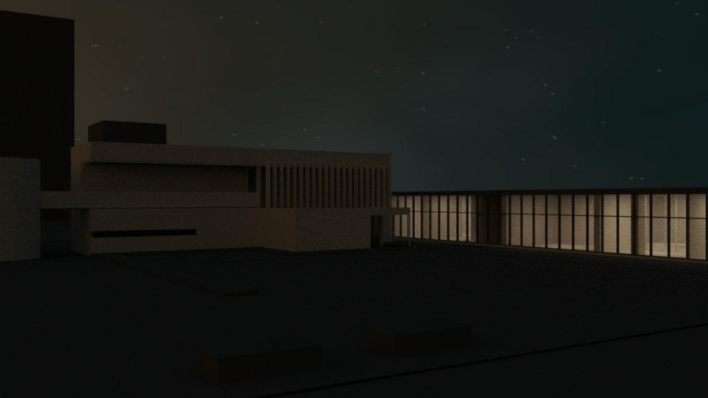 render notturno corona